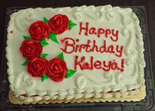 Photo: the birthday cake