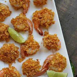 Crispy Baked Salsa Ranchera Shrimp with Guacamole.