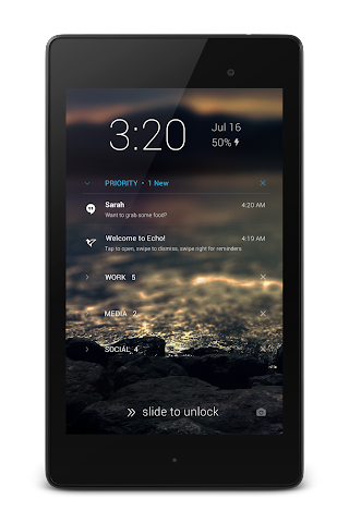 android Echo Notification Lockscreen Screenshot 3