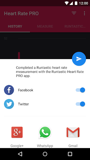 Runtastic Heart Rate PRO app for Android screenshot