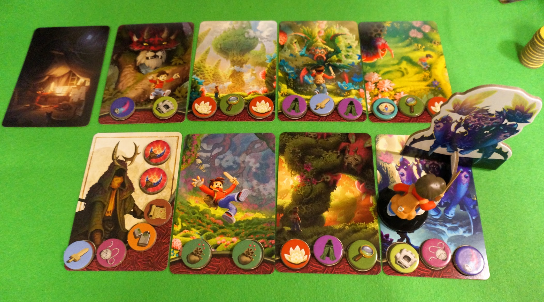 ミステリアス フォレスト/神秘の森:ゲーム終了時の様子