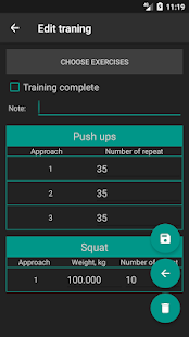 Advanced Sport Training Calendar Screenshot