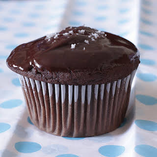 Salted Chocolate-Peanut Butter Cupcakes.