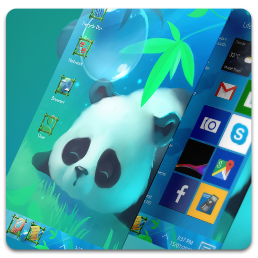 Panda Theme For Computer Launcher