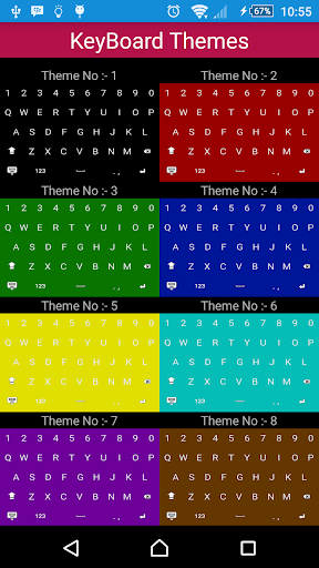 Solid Color Keyboard Themes