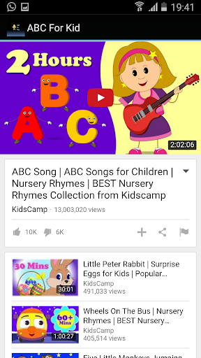 ABC For Kids Nursery Rhymes