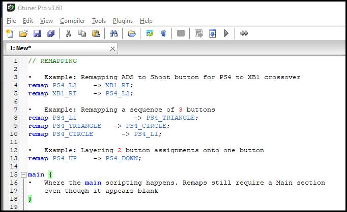 Sample of the script editor window.