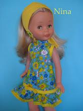 Photo: Vestido modelo Zarautz: Vestido corto con volante, banda para el cabello y pendientes de margarita: 21 euros más envío