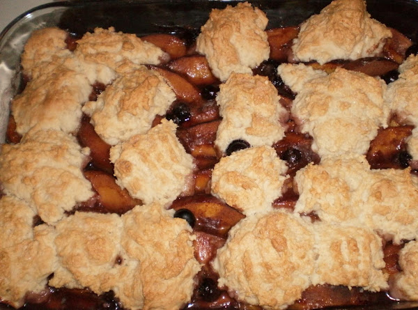 Fresh Peach And Blueberry Cobbler Recipe
