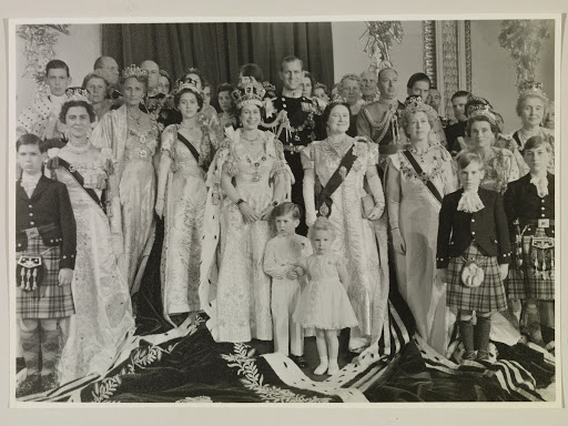 The Queen with the Royal Family at Buckingham Palace after the Coronation, 2 June 1953