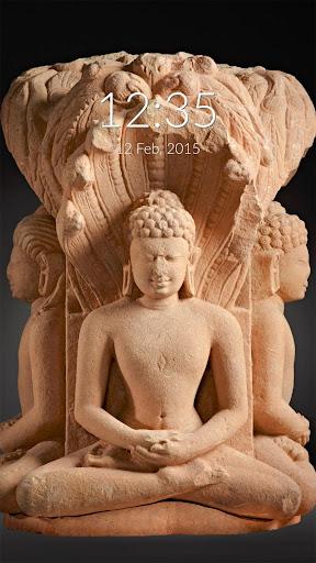 Mahavira Statue Wall Lock