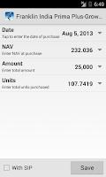 Screenshot of My Funds - Portfolio Tracker