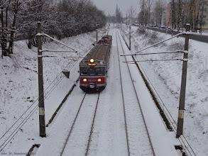 """Photo: EN57-922, Bydgoszcz Główna - Iława Główna {szlak Toruń Miasto - Toruń Wschodni (""""wąwóz kolejowy""""); 2014-01-16}"""