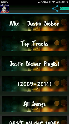 Download Justin Bieber All Video Songs Google Play softwares
