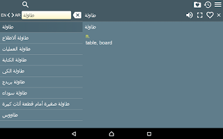 Screenshot of English Arabic Dictionary Free