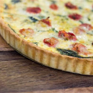 Vegetable and Fine Herb Quiche.