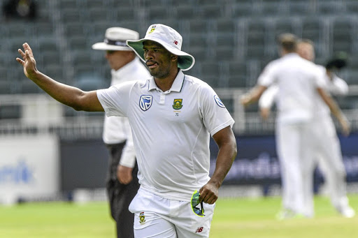 Top achiever: Vernon Philander, who took 6/21, acknowledges the crowd after taking two wickets in the first over on Tuesday. Proteas coach Ottis Gibson said he rose to the challenge. Picture: GALLO IMAGES