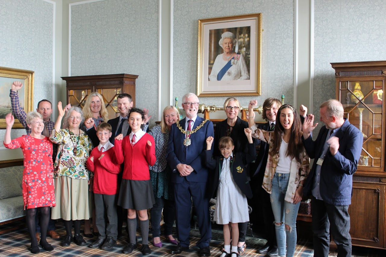 All the Echo Environment Award winners from Wirral with the mayor