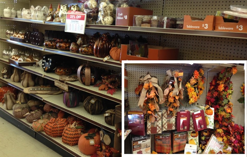 Lots of beautiful and affordable fall and Thanksgiving decorations and supplies available at Big Lots.
