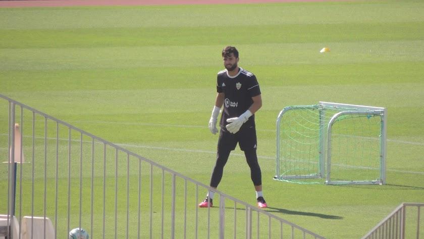 Antonio Sivera en el entrenamiento de este miércoles.
