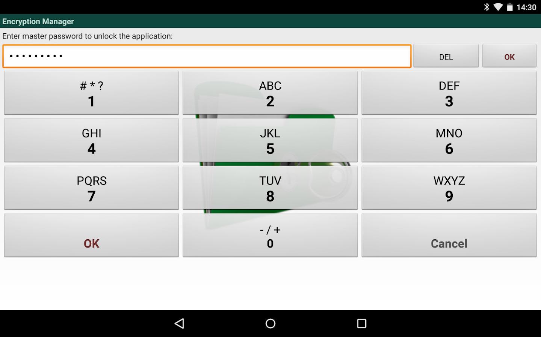 Encryption Manager - screenshot
