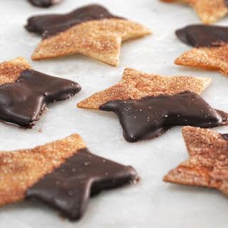 Cinnamon-Sugar Chocolate Dipped Stars