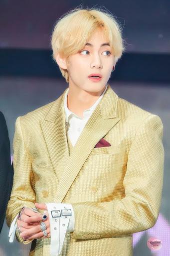 BTS V in Golden color