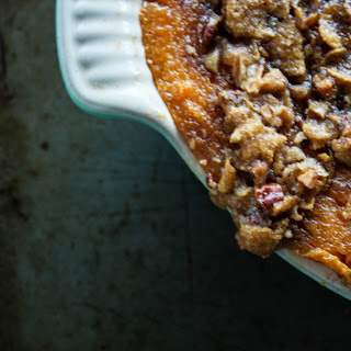 Southern Style Sweet Potato Casserole with Brown Sugar Pecan Topping