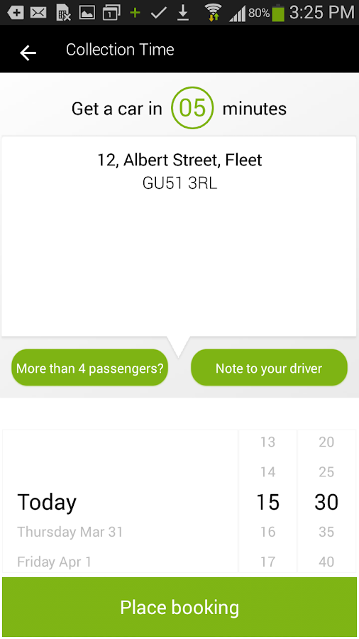 Footprint Taxis- screenshot