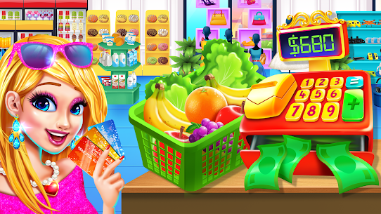 Grocery Store Girl in the USA – Shopping Games 1.2 Mod APK Updated Android 1