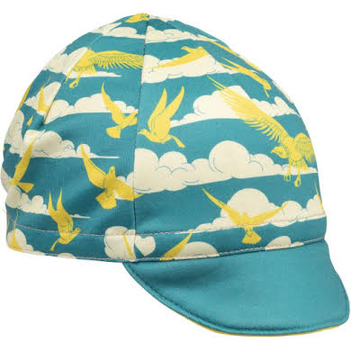 All-City Fly High Cycling Cap - Teal, Gold, One Size
