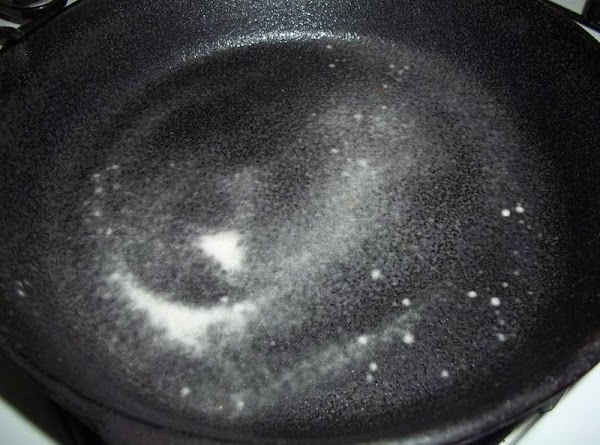 Preheat your oven to 350 degree F.  Spray either a 10 inch oven safe skillet...