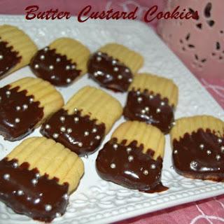 Egg Less Butter Custard Cookies Recipe