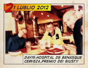 Photo: Hospital de Benasque, 1760m: birra e salsicce!
