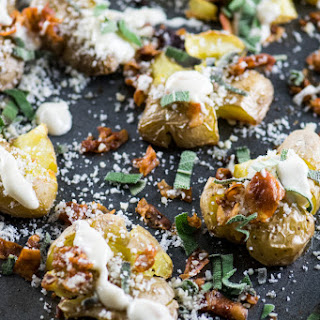 Smashed Potatoes with Pancetta