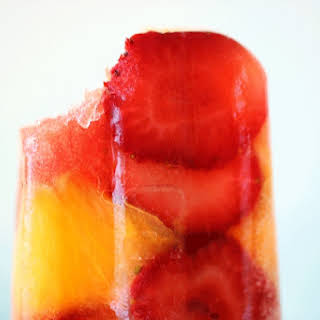 Strawberry Popsicles.
