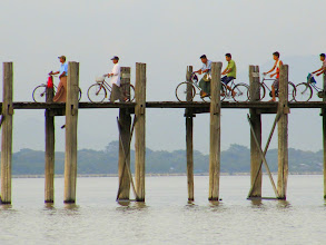 Photo: Year 2 Day 55 -  Bicycles on U Bein's Bridge in Amarapura