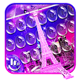 Water Drops Eiffel Tower Keyboard Theme