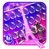Water Drops Eiffel Tower Keyboard Theme file APK Free for PC, smart TV Download