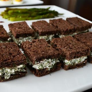 Mini Cucumber Sandwiches.