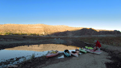 Photo: Boat parking below our camp.