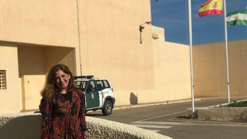 María del Mar Soriano, tras la entrevista con LA VOZ.
