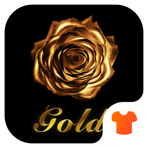 Gold Rose Theme for Android Free Icon
