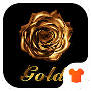 Gold Rose Theme for Android Free