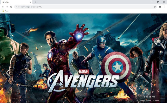 The Avengers New Tab & Wallpapers Collection