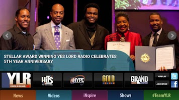 Screenshot of Yes Lord Radio
