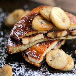 Nutella and Banana Stuffed French Toast…25 Days of Holiday Treats