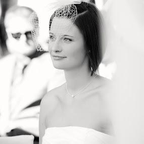 Eva is getting married by Katja Zagar Photography - Wedding Ceremony ( modern, wedding, white, marriage, bride, ceremony )