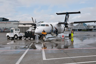 Photo: Boarding the plane in Vancouver, which will fly to Prince Rupert
