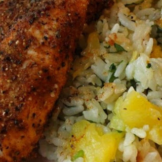 Caribbean Chicken With Pineapple-cilantro Rice.